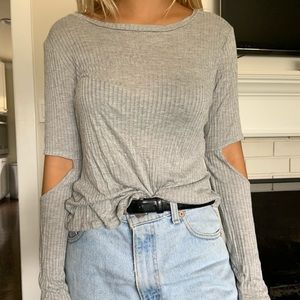LF grey light sweater